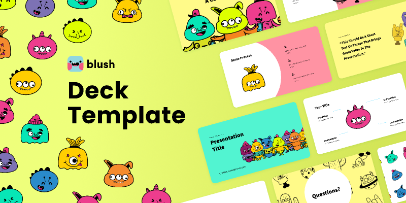 Presentation Template with Monsters Illustrations from UIGarage