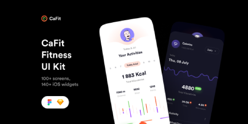 CaFit Fitness UI Kit (Community) from UIGarage