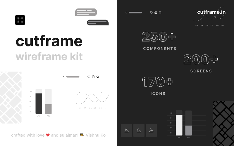 Cutframe.in (wireframe kit) from UIGarage