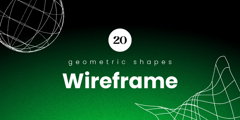 Wireframe Shapes Pack from UIGarage