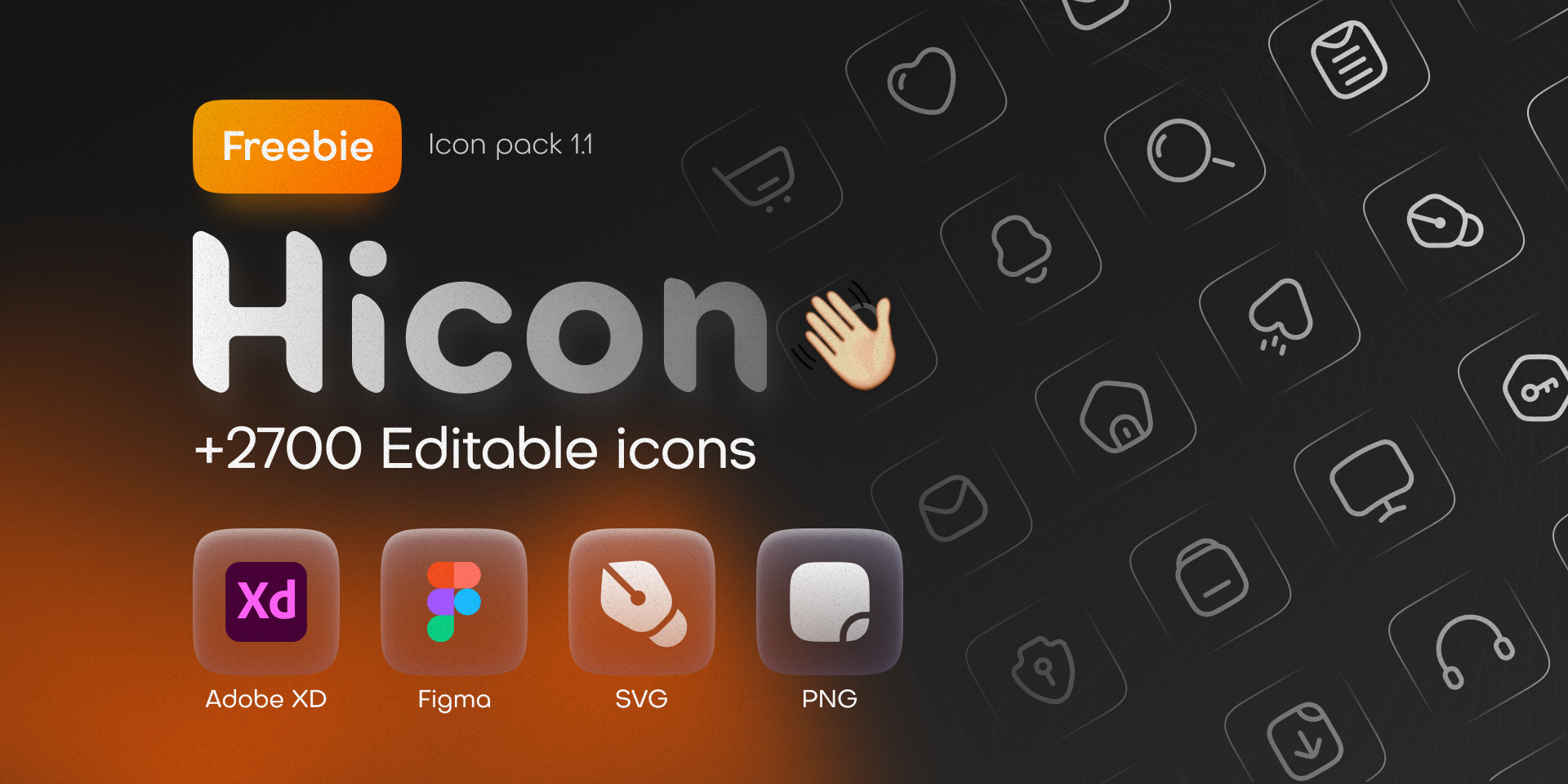 Hicon (Free icon pack) - +2700 Editable icons from UIGarage