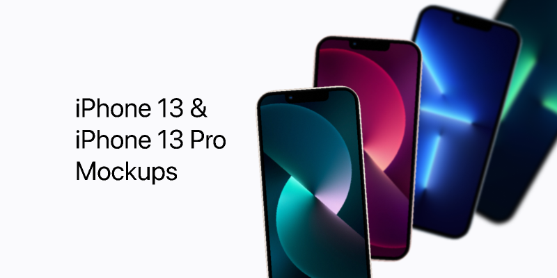 iPhone 13 · 13 Pro Vector Mockups from UIGarage
