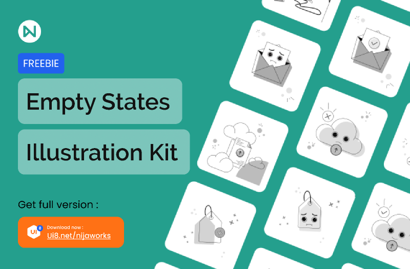 Empty State Illustration Kit from UIGarage