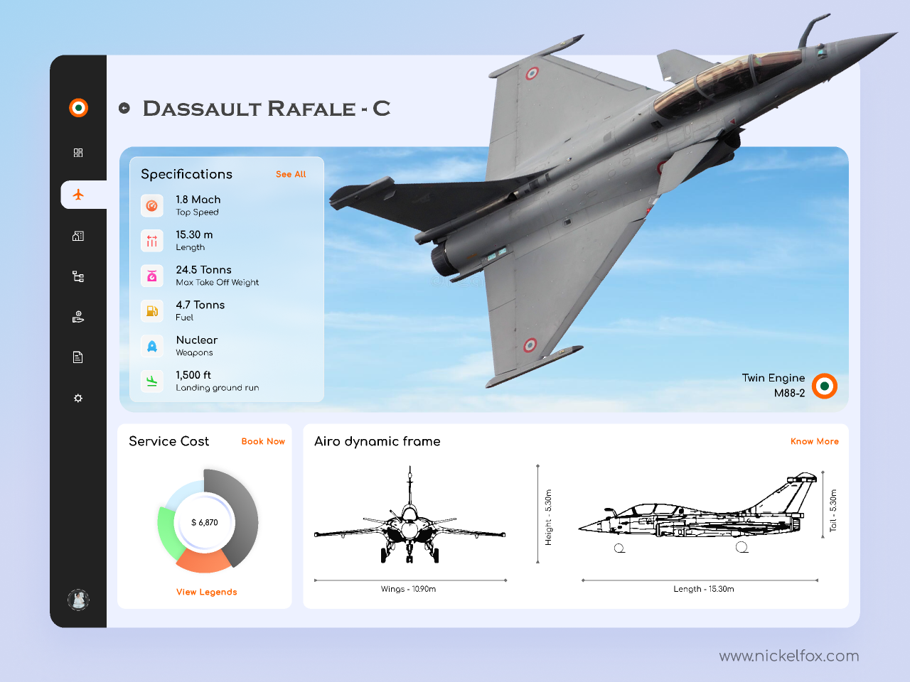 Air Force Dashboard from UIGarage