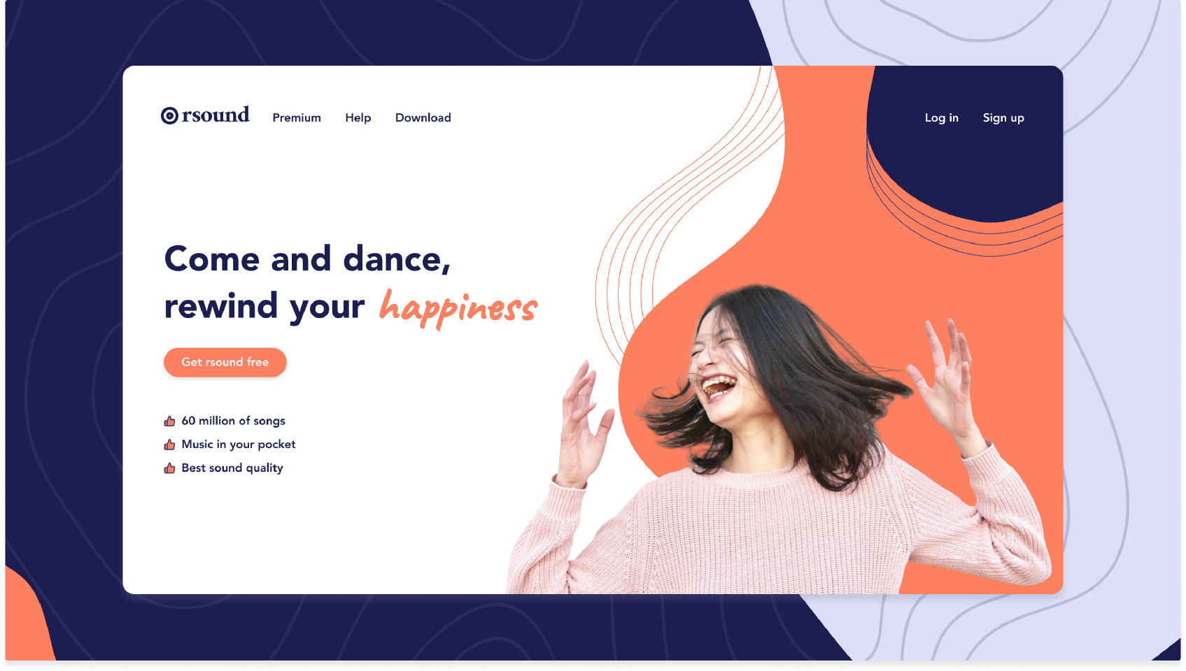 Music streaming landing page - Rsound - Exploration image