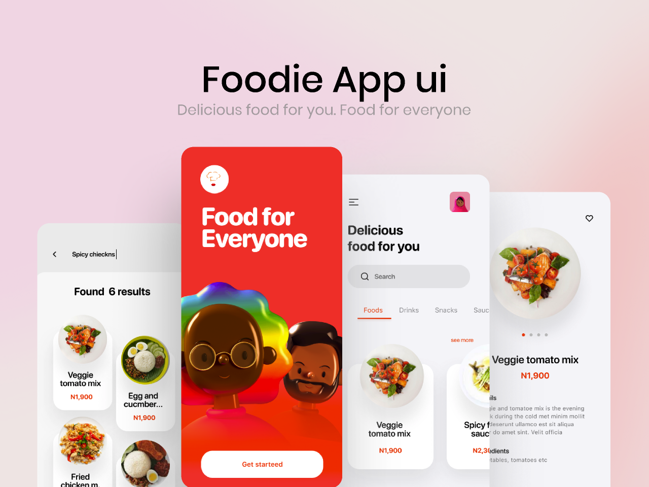Food delivery app Ui kit from UIGarage