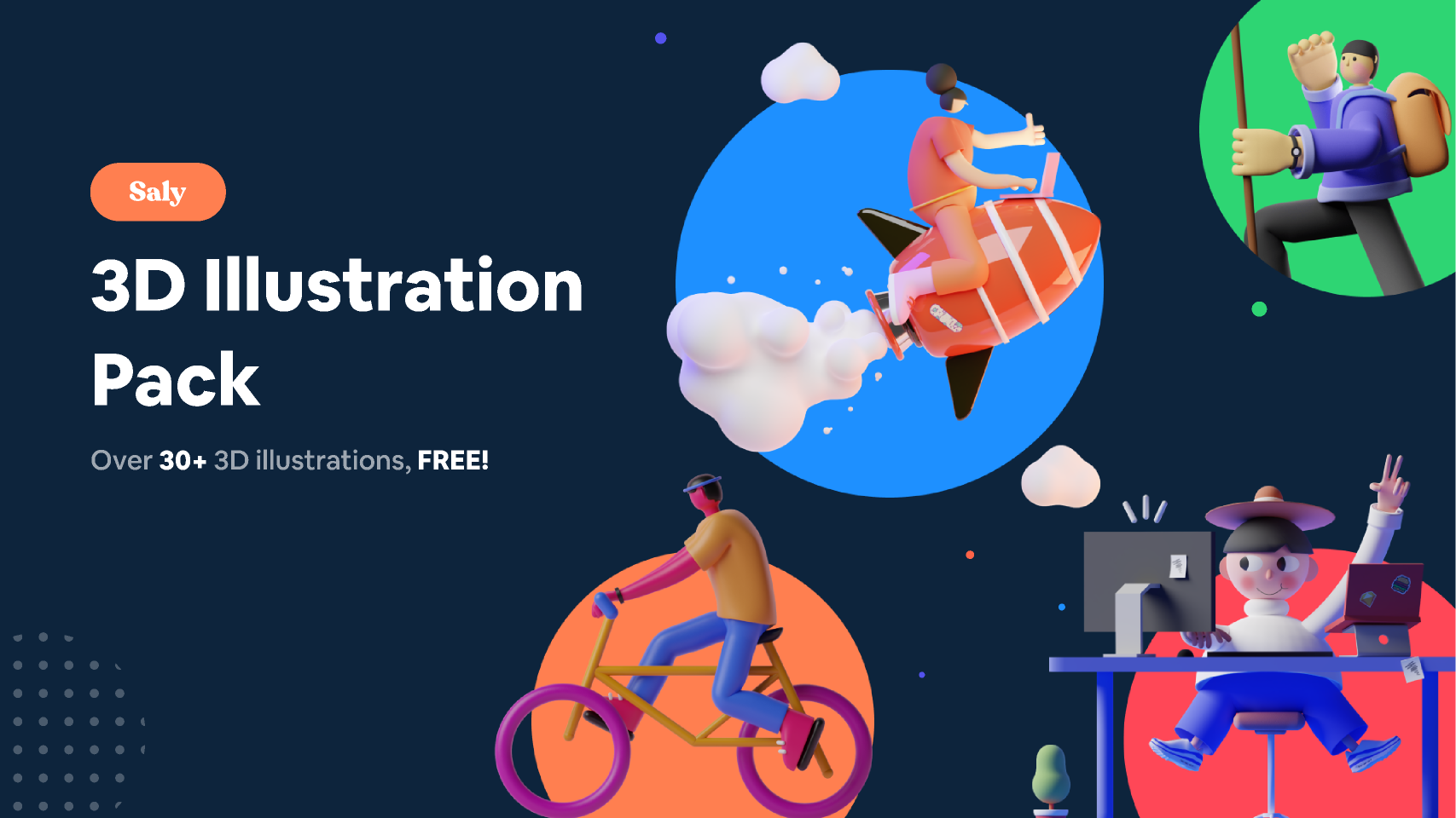 SALY - 3D Illustration Pack from UIGarage