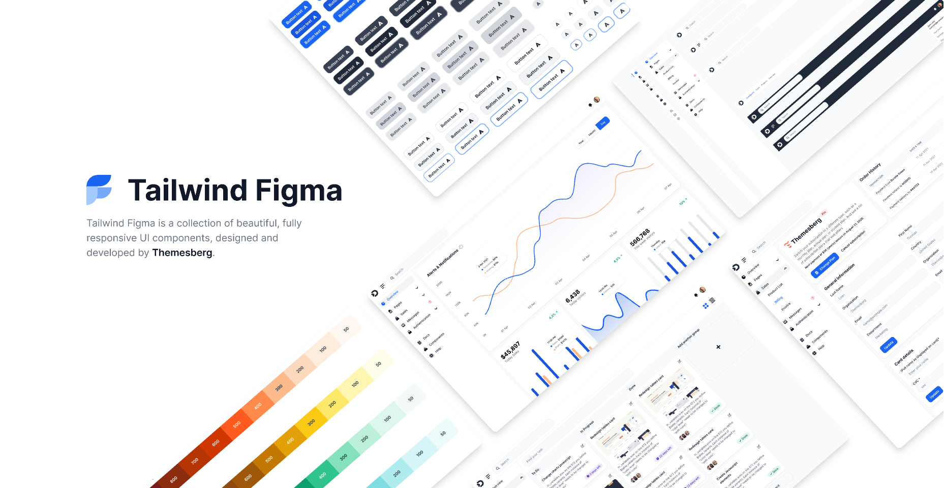 Figma design kit built to integrate with Tailwind CSS